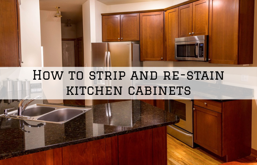 How to strip and re-stain kitchen cabinets Clinton Township, MI
